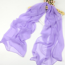 classic pure color georgette muslim hijab simulation silk scarf seaside beach sunscreen shawls wholesale