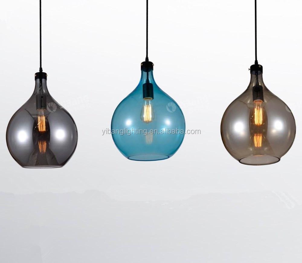 2014 moderne glazen hanglamp, gekleurde glazen lampen gb22