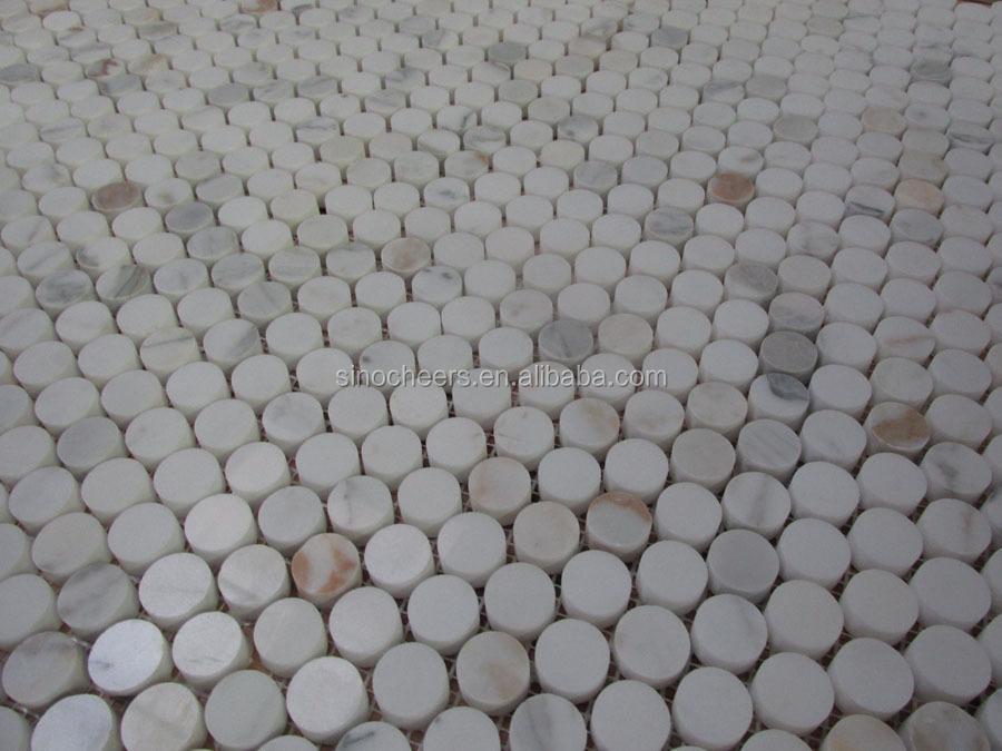 Mozaiek Badkamer Tegels : Houten vierkante mozaïek mm grijs marmer tegels voor badkamer