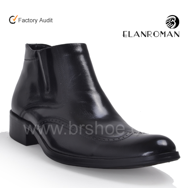 leather zipper boots neck for ankle men high shoes leather boots buckle boots men Italian SFq0w4S