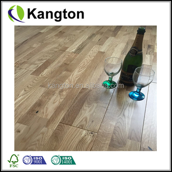 Abbey Movilla Oak Rustic 3 Strip 18mm Lacquered Solid Wood Flooring
