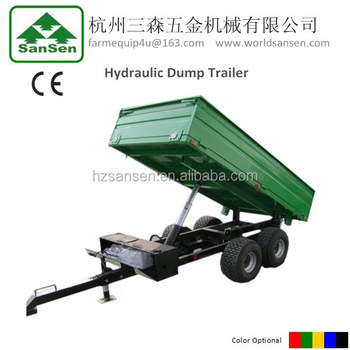 Farm tipping trailer with hydraulic power unit,atv dump trailer with CE