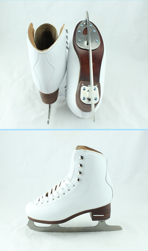 Classic High-end white fashion skate ice hockey speed skates
