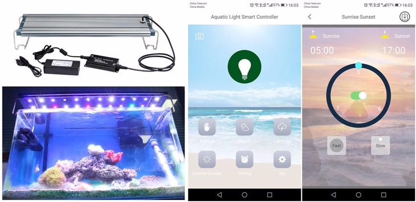 30 inch/48 inch/72 inch dẫn ánh sáng hồ cá Tùy Chỉnh Rạn San Hô Spectrum Dimmable đối với marine lifes