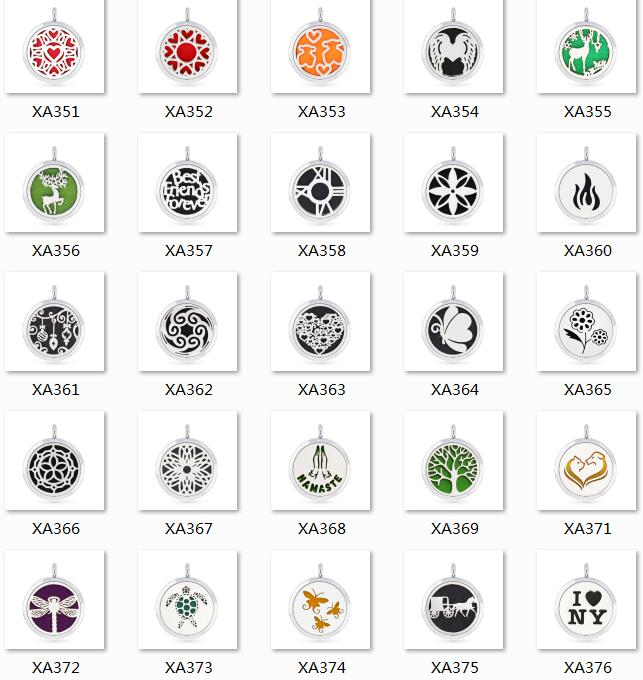 car logos horse 30mm Perfume Aromatherapy Locket Necklace zinc alloy frame Stainless Steel Essential Oil Diffuser Locket Pendant