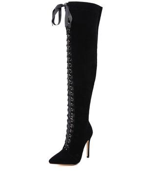 envío gratis a7ead 7da28 Csb144 Venta Caliente Amazon Joom Euro-estrella Americana Moda Sexy De Alta  Ayuda Botas A La Rodilla Y Atar Girls'shoes - Buy Botas De Atar,Botas ...