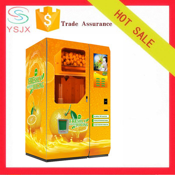 Automatic cup fresh orange juice squeezing drink vending machine