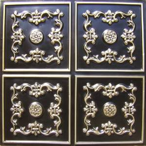 Tin Ceiling Tile #130 Antique Silver 2x2 Very Cheap Discounted Decorative Fire Rated Can Be Glue on Any Flat Surfase,suspended Ceiling,drop Ceiling.