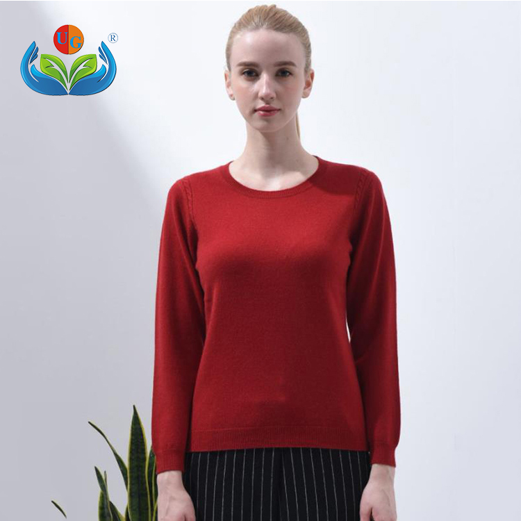 Elegant classical women pullover 100% cashmere sweater for women
