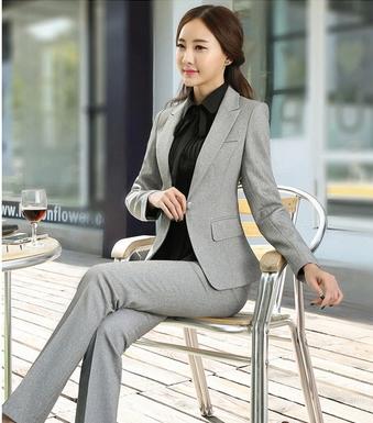 В костюмы женщин длинный рукав весна костюм пальто + брюки 6003