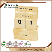 Wholesale Desk Natural solid wooden calendar for recycle use