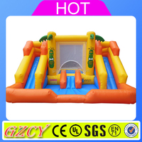 Outdoor sports for kids inflatable plastic water slide for children