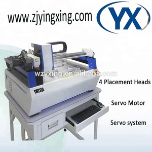 4heads SMT330 Smt Pick and Place Machine For Led Light Production Line With Servo Motor+Guide Screw,10PCS 8mm Feeder