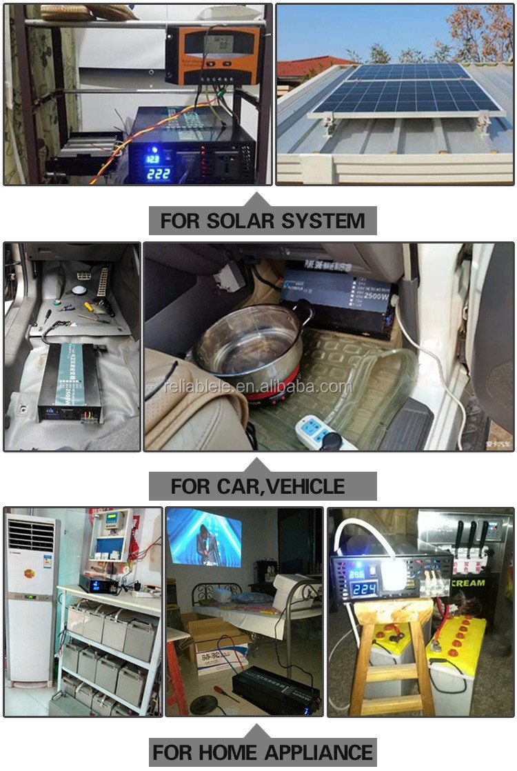 Manufacturer Pure Sine Wave Inverter off grid solar home systems 2000w for air condition