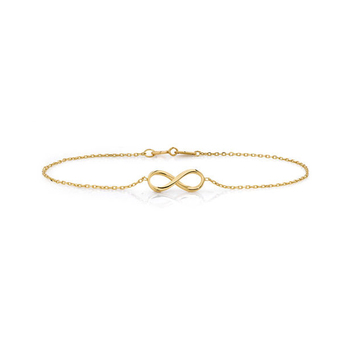 e66ee824c34c6d 925 Sterling Silver Chain Fashionable 18K Gold Plated Infinity Bracelet  Jewelry