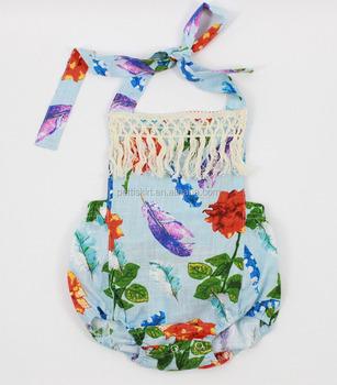 Designer Clothes Websites Of Spanish Baby Watchet Romper Girls Slub