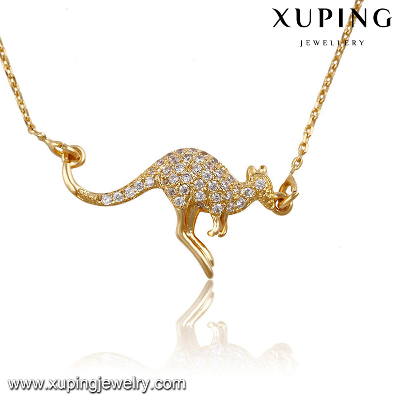 41865-Xuping Wholesale Elegant Jewelry long Chain animal shaped Necklace