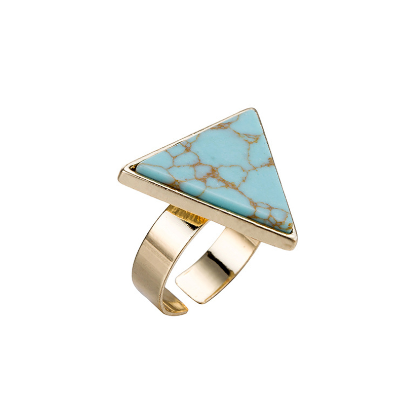 European and American new style marble triangular finger <strong>ring</strong>