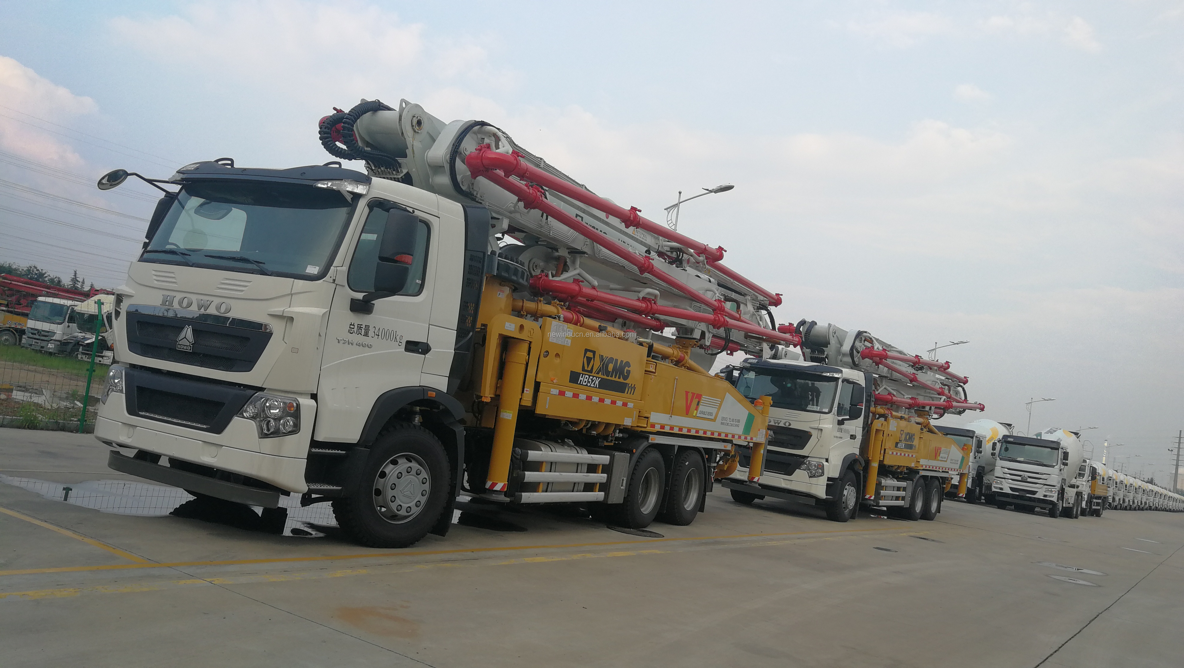 Pump Truck 34m Truck Mounted Concrete Pump HB34K for sale