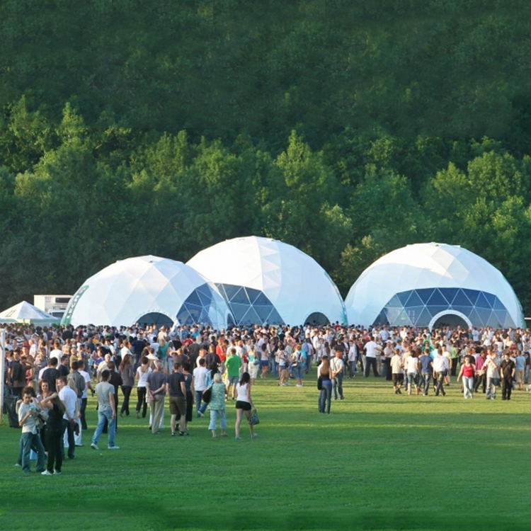 Big steel water-proof geodesic dome tent for event party