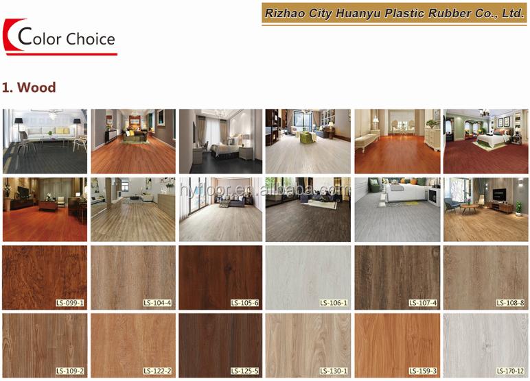 Luxury SPC Vinyl PVC Material New Model Flooring Tile Plank Click Pisos