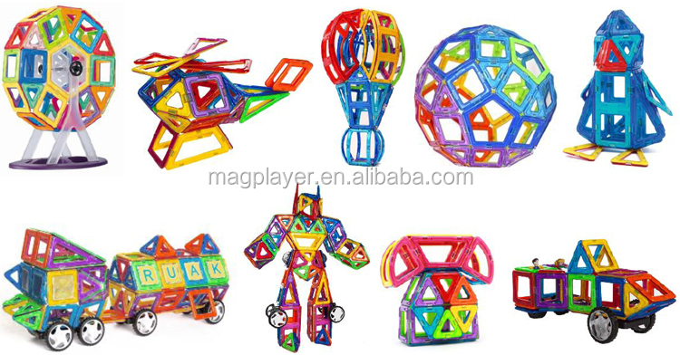 Magnetic Mag Wisdom Toy Of Magplayer Construction Toy 112 Pieces ...