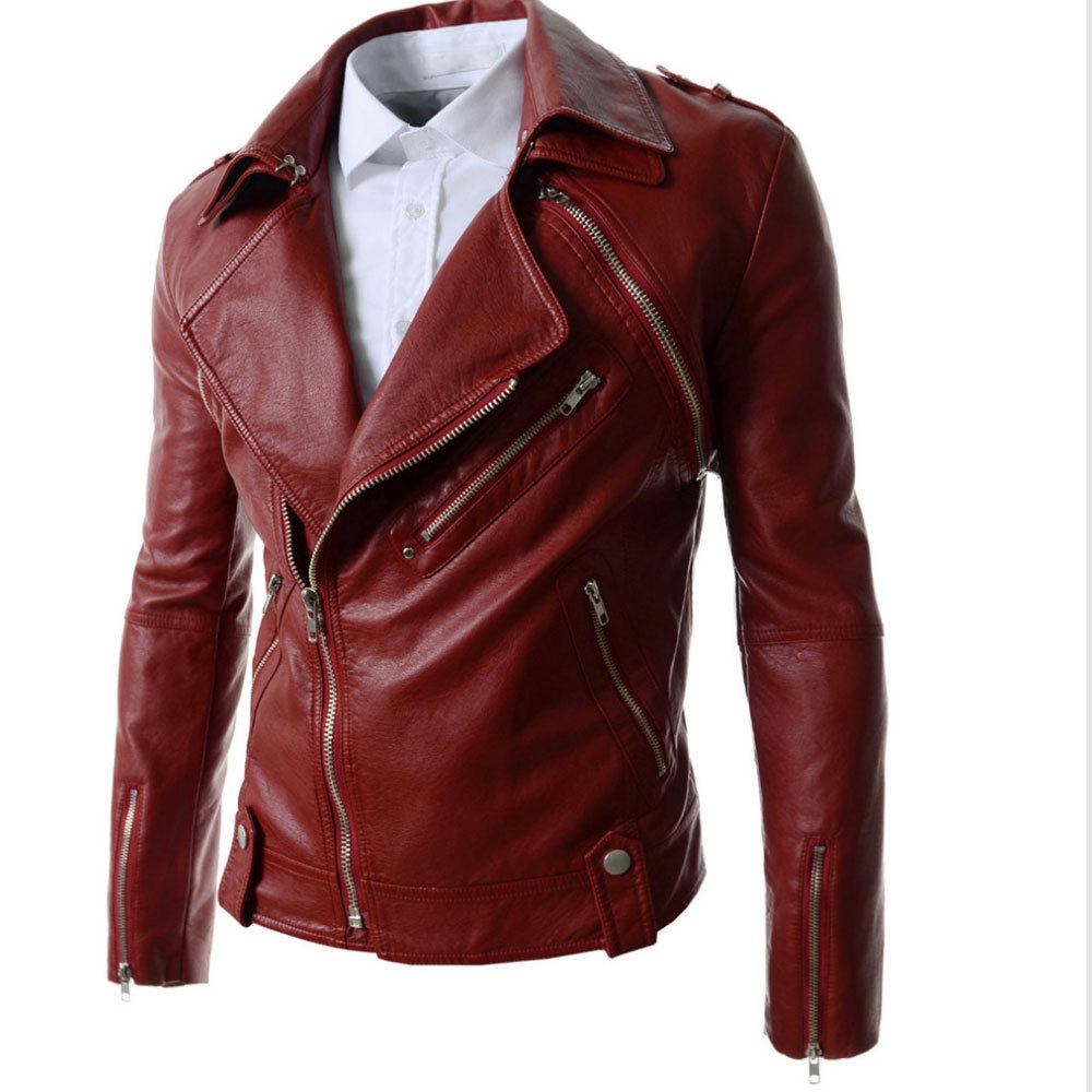 Cheap Red Leather Jacket Men, find Red Leather Jacket Men deals on ...