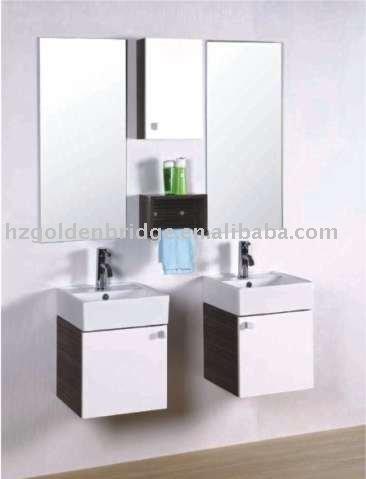 Kleine Sanitärkeramik Pvc Badezimmer Eitelkeit Doppel Spiegel Gbw101