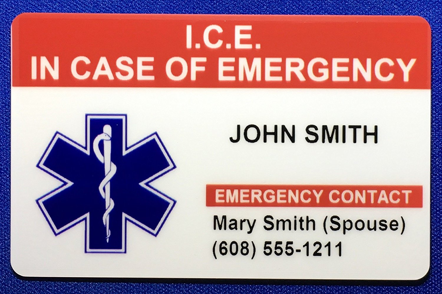 Get Quotations In Case Of Emergency ICE Medical ID Card