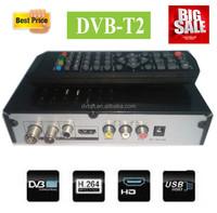 Newest dvb-t2 set top box original satellite receiver twin tuner for kenya