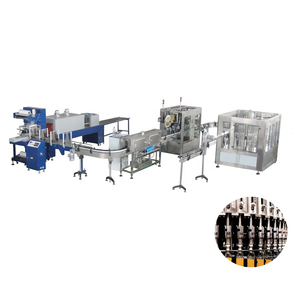 automatic mini juice pet bottle bottling filling product line machinery