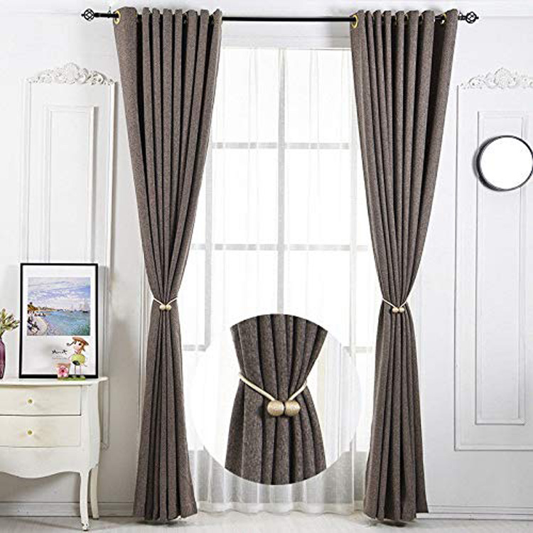 1 Pair Home Office Decorative Drapes Weave Holdbacks Holders Blue Magnetic Window Curtain Tiebacks