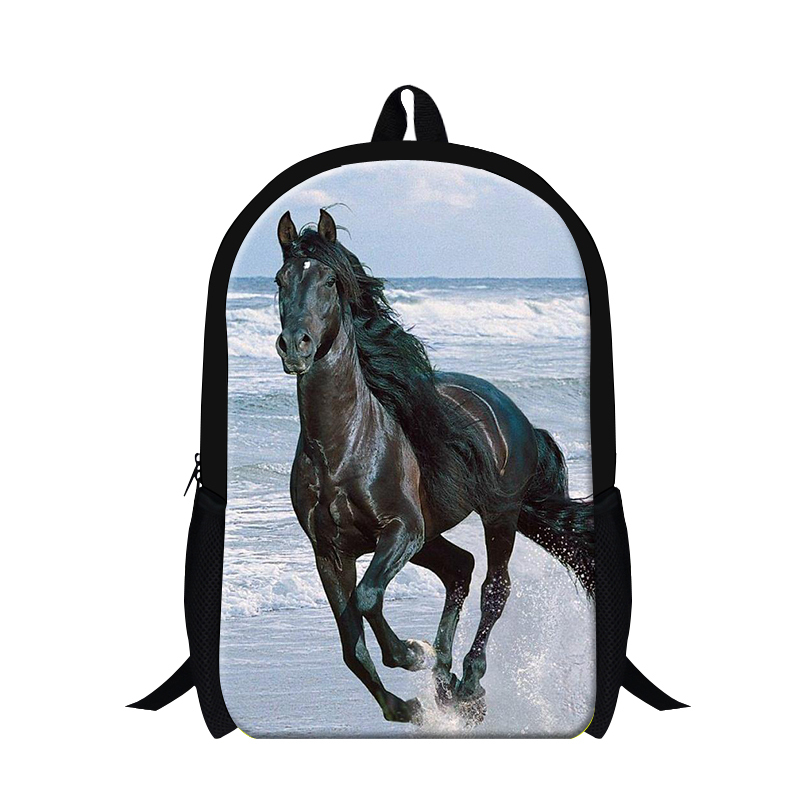 Get Quotations · 2015 new design teen boys backpack pulsh horse 3D print  school back pack for boys 93edabebad5b1