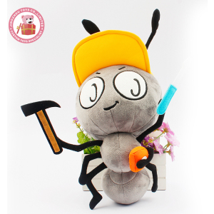 Fashion Cartoon Cute Soft Stuffed Animal Kids Engineer Ant Plush Toy