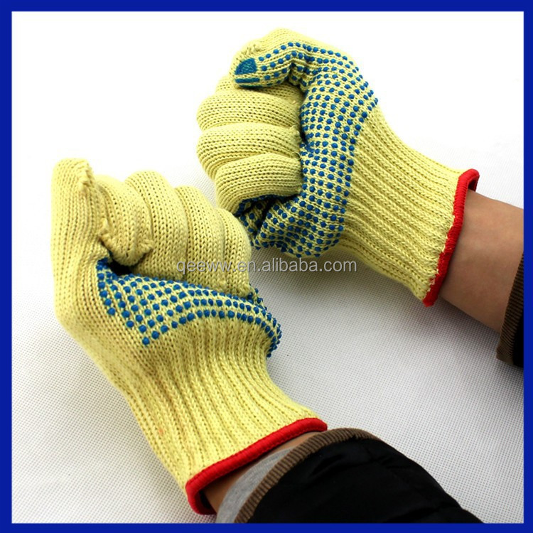 2015 Hand protection PVC Dotted Cotton Industrial Hand Winter 4343 safety gloves.