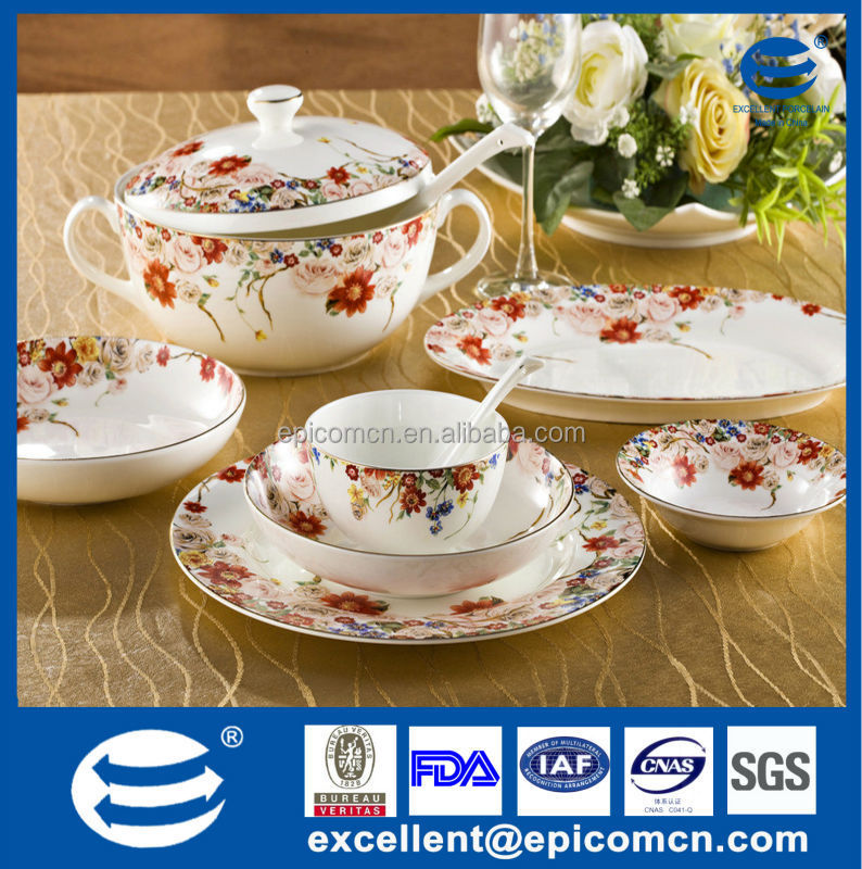 Royal Design Bone China Geschirr Mit Gold Blume Design Neue Bone