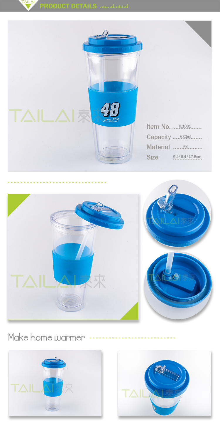 Hot selling new design promotional transparent plastic water bottle