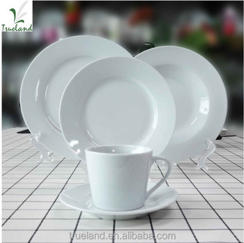 Dinner sets 30pcs porcelain tableware round white dinnerware