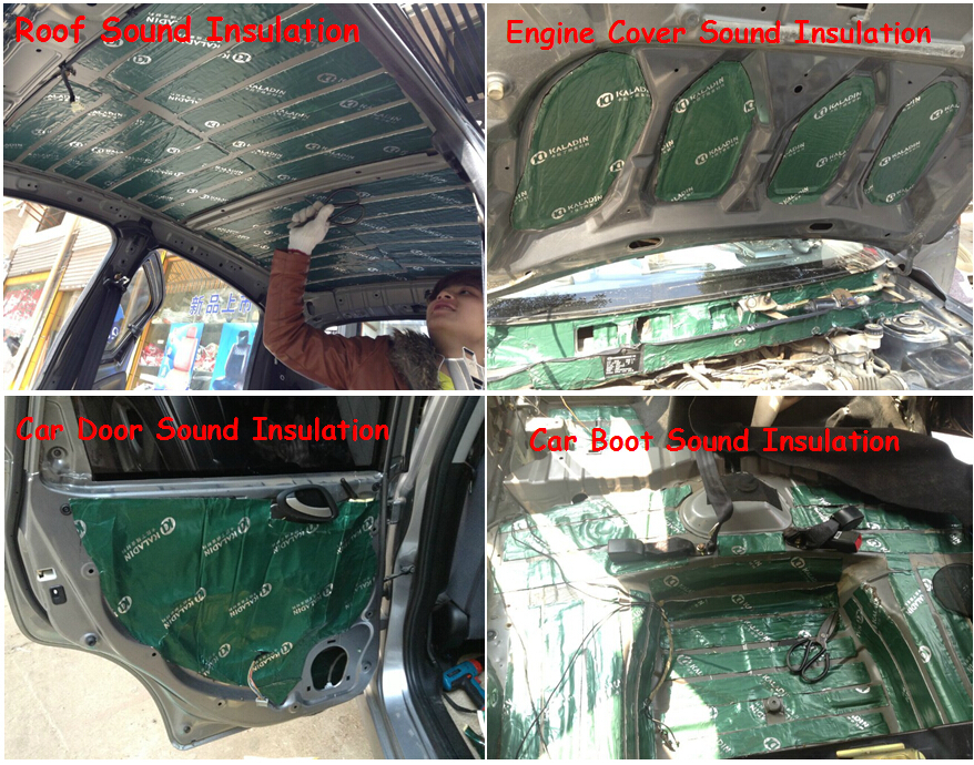 high density car sound deadening pads vibration damping material