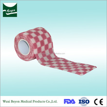 Medical Colorful Waterproof patterned cotton printing camo elastic cohesive bandage