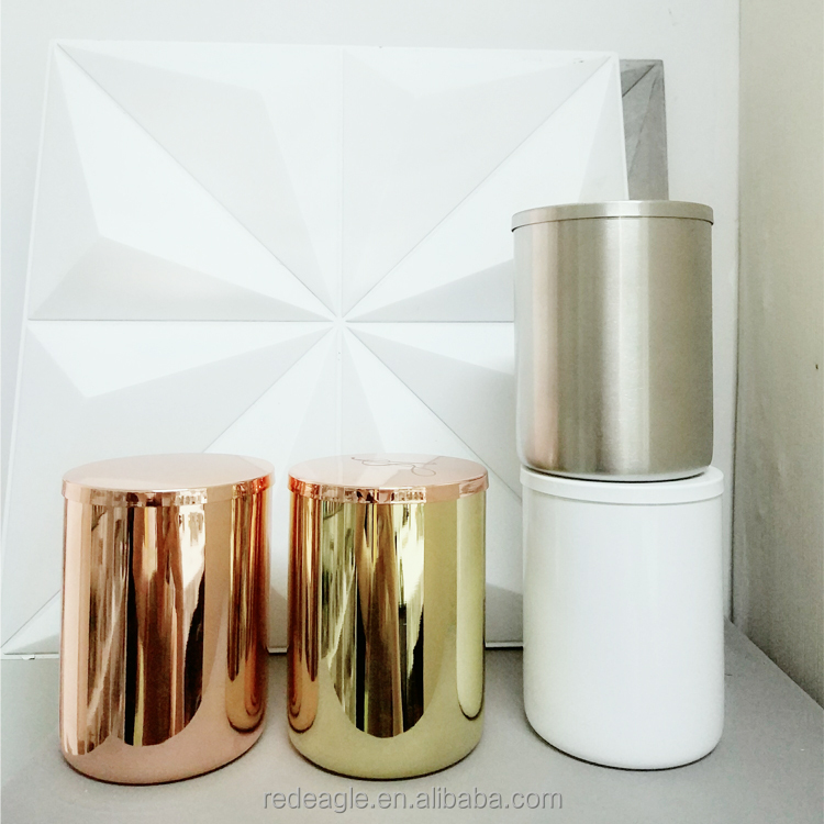 Metallic Storage Jar For Soy Wax Candle