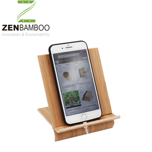 Natural Bamboo stand for mobile phone,tablet pc