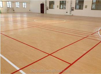 Gebruikt basketbal floor hout look rubber vloeren mm vinyl vloer