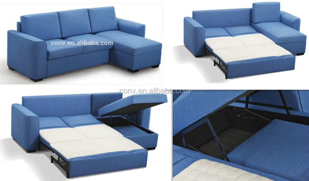 Fabric Corner Sofa Bed With Stroage Buy European Style