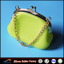 Silicone Round Coin Purse Wallet Candy Card Key Phone Frog Design Bag