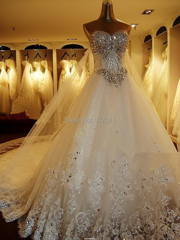 1233f55de9a 2014 New Bandage Tube Top Crystal Luxury Wedding Dress 2014 Bridal ...