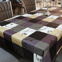 Heavy Weight Vinyl Rectangle Table Cover Wipe Clean PVC Tablecloth Oil-proof/Waterproof Stain-resistant/Mildew-proof