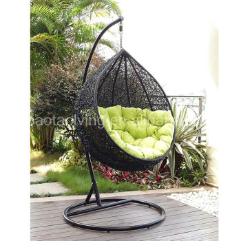 Black rattan round hanging garden chair hammock  sc 1 st  Alibaba Wholesale & Black Rattan Round Hanging Garden Chair Hammock - Buy Hanging ...