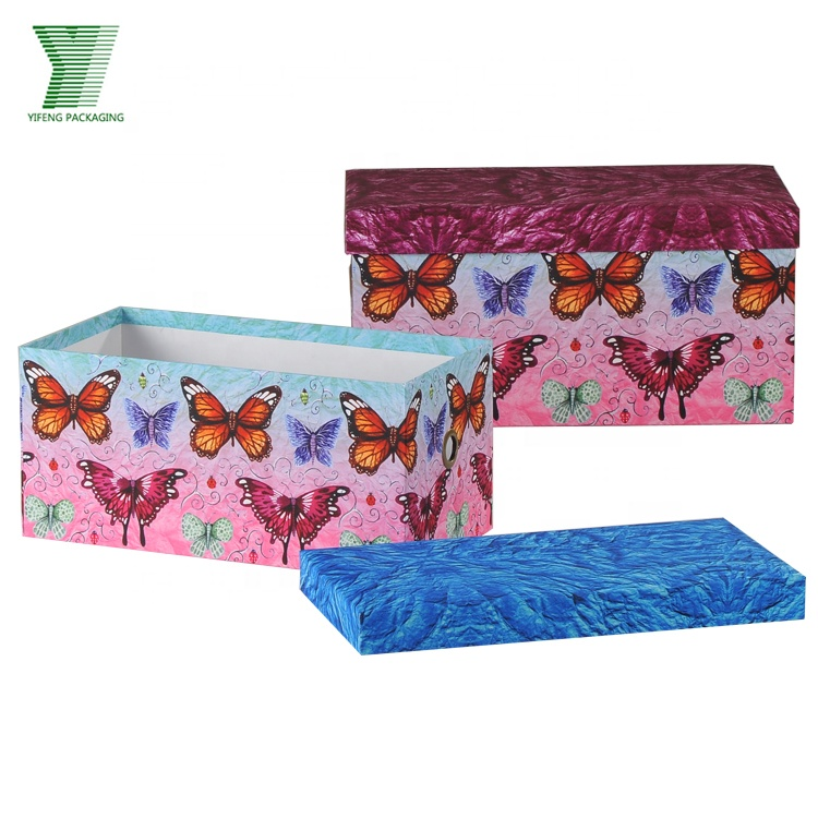 China manufacture wholesale rectangular cardboard box cloth box