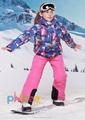 Phibee Girls Waterproof Ski Suit Kids Ski Jacket Ski Pants Windproof